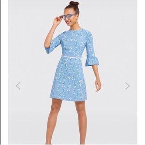 c2b649d8f48a Draper James • Rosslyn Daisy Vine Blue Dress 6